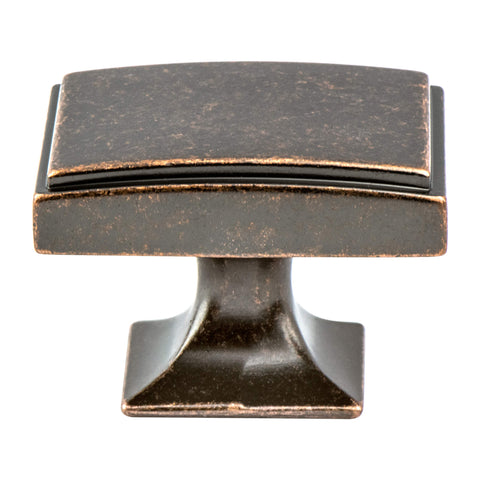 Hearthstone Weathered Verona Bronze Knob - This knob has a tooth on the bottom.