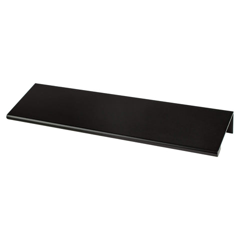 Contemporary Advantage Two 112mm CC Matte Black Edge Pull - Part measures 1/16in. thickness.