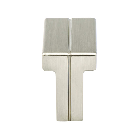 Skyline Brushed Nickel Knob - This knob has a tooth on the bottom.
