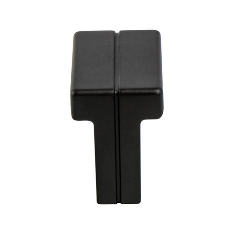 Skyline Matte Black Knob - This knob has a tooth on the bottom.