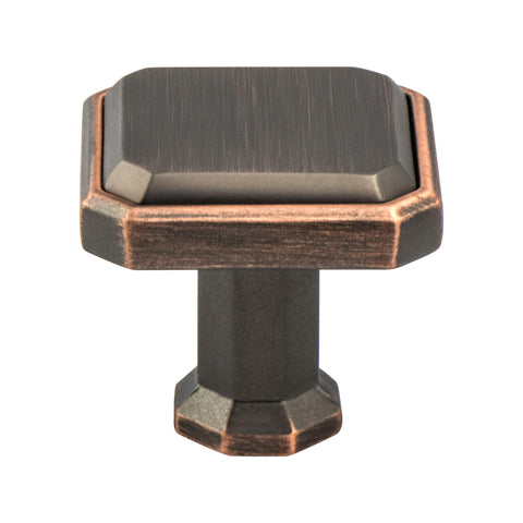 Harmony Verona Bronze Knob - This knob has a tooth on the bottom.