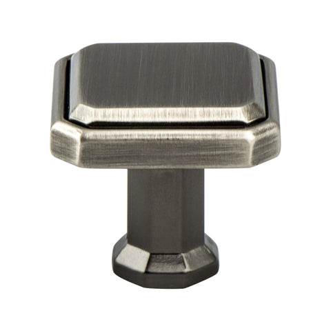 Harmony Vintage Nickel Knob - This knob has a tooth on the bottom.