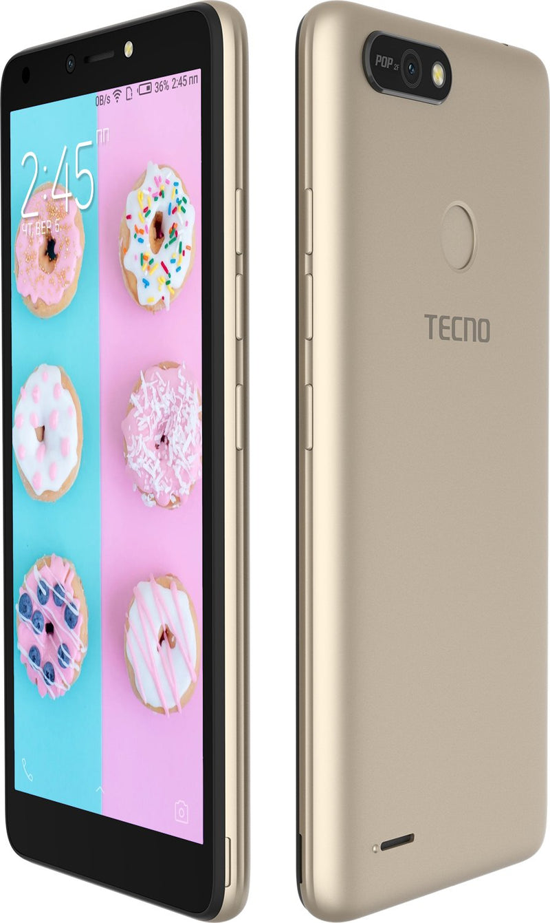 PM - Tecno POP 2F - Système HiOS Android 8.1 - 3G - Mémoire interne 16Go - Empreinte Digital - Double SIM