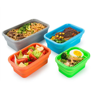 Reusable Silicone Food Storage Container Set