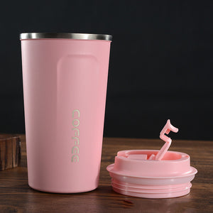 Pink Stainless Steel Travel Mug