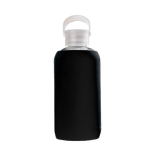 Load image into Gallery viewer, Black 420ml Glass Water Bottle