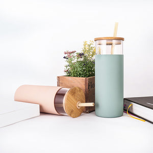 UseMe LIFE Glass Tumbler with Straw