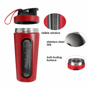 Red Stainless Steel Shaker Bottle