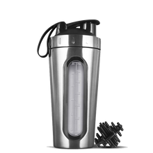 Load image into Gallery viewer, Silver Stainless Steel Shaker Bottle