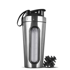 Silver Stainless Steel Shaker Bottle