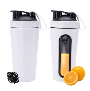 White Stainless Steel Shaker Bottle