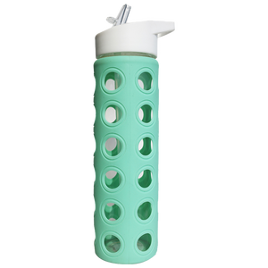 Mint Glass Water bottle with silicone