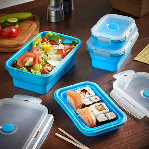 Silicone Food Storage Container Set 8 Piece Set
