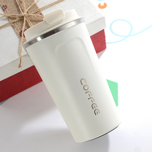 White Stainless Steel Travel Mug