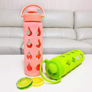 UseMe LIFE 500ml Glass Water Bottle