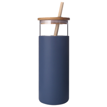 Load image into Gallery viewer, 500ml Glass Tumbler with Straw
