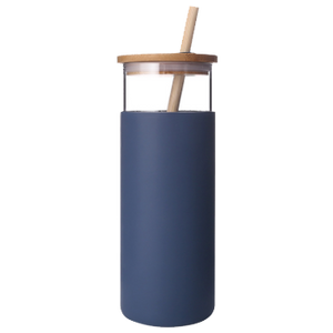 500ml Glass Tumbler with Straw