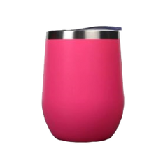 Load image into Gallery viewer, hot pink wine tumbler