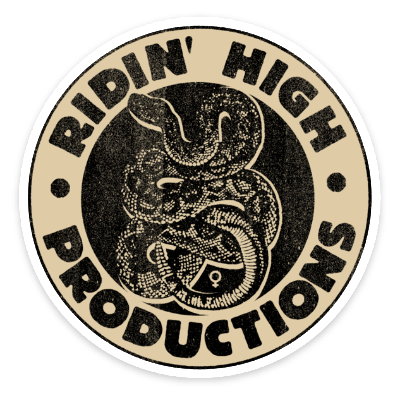 RIDIN' HIGH SNAKE LOGO STICKER