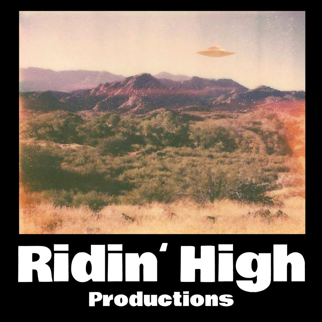 RIDIN' HIGH UFO STICKER