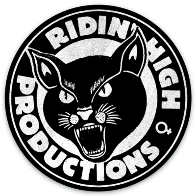 RIDIN' HIGH PROD. PANTHER LOGO STICKER