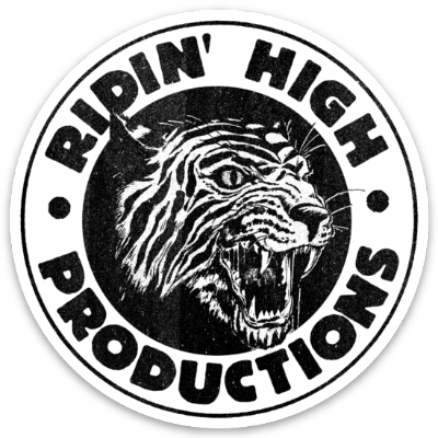 RIDIN' HIGH TIGER LOGO STICKER