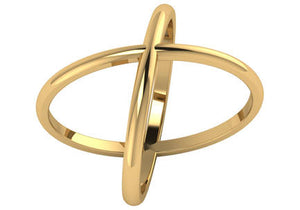 Gold X Ring