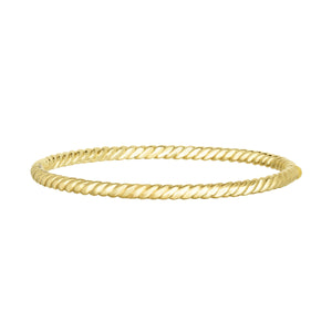 14kt Gold 7.25 inches Yellow Finish 3.8mm Polished Italian Cable Bangle with Box Clasp