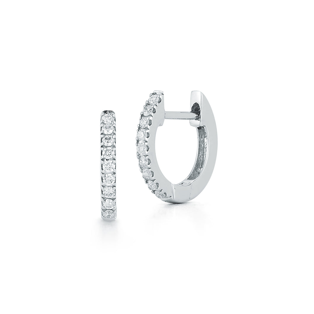 Small Diamond Huggie Earrings