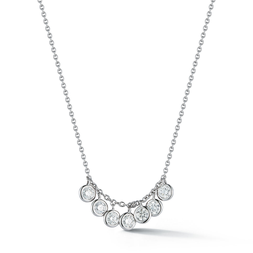 7 Diamond Dangle Necklace