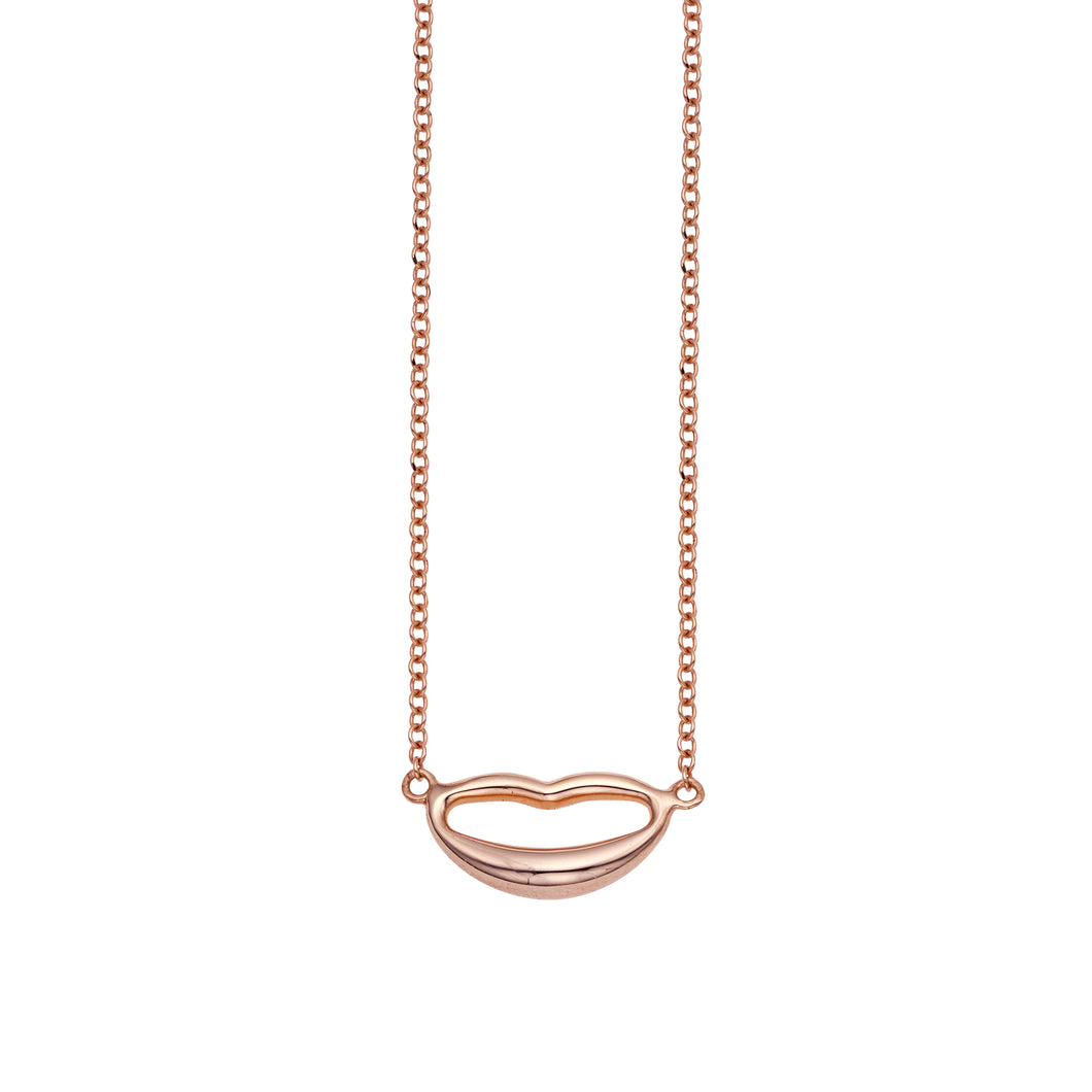 14kt Rose Gold Lips Necklace