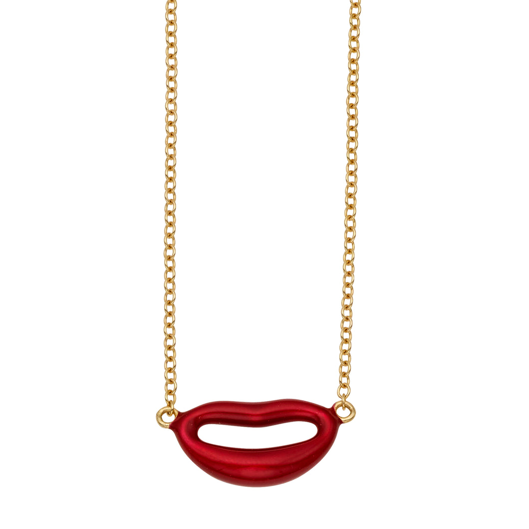 14kt Gold Red Lips
