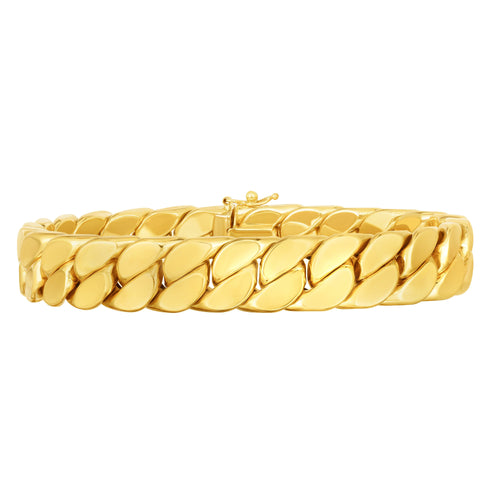 Miami Cuban 14k gold bracelet