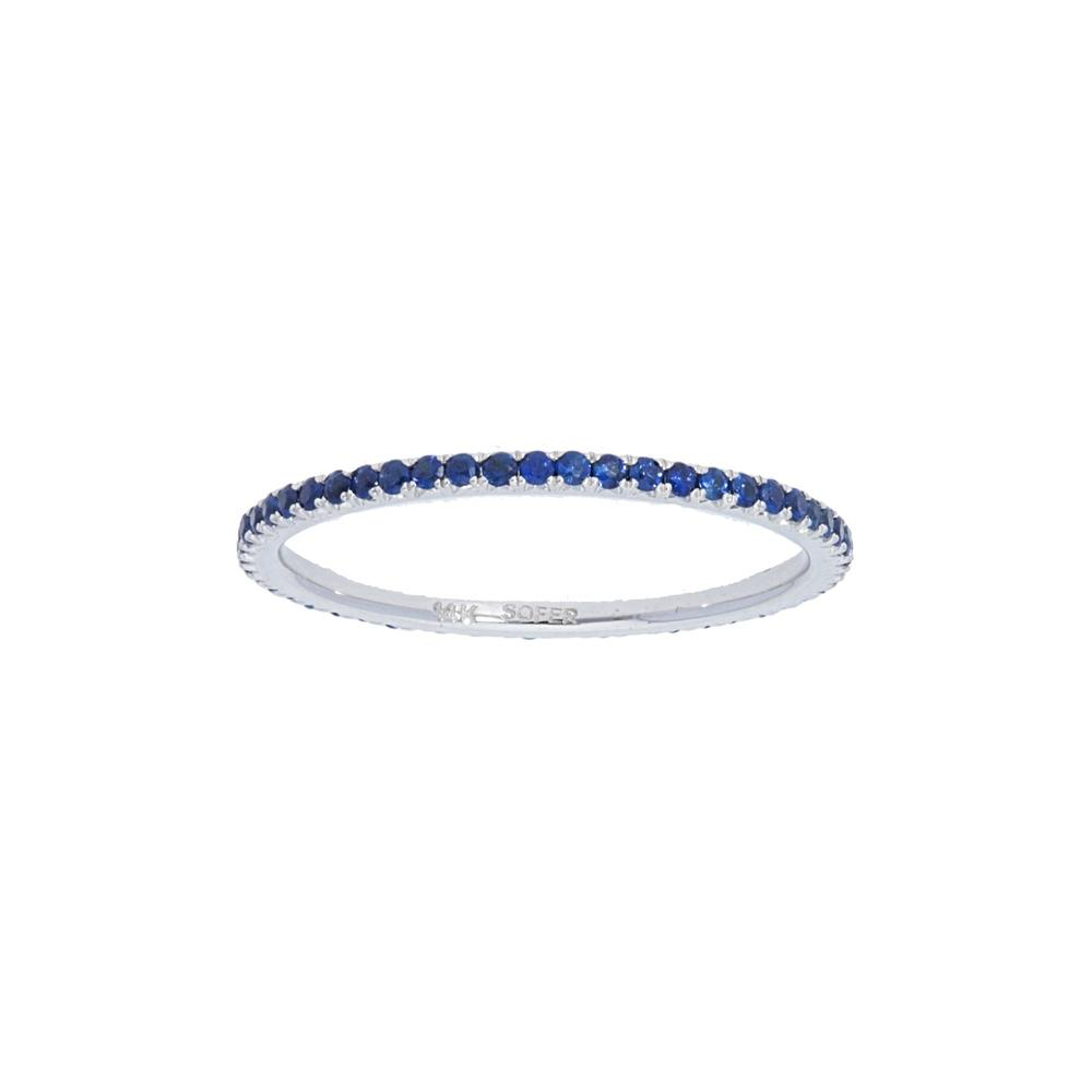 Blue Sapphire Eternity Stackable Ring