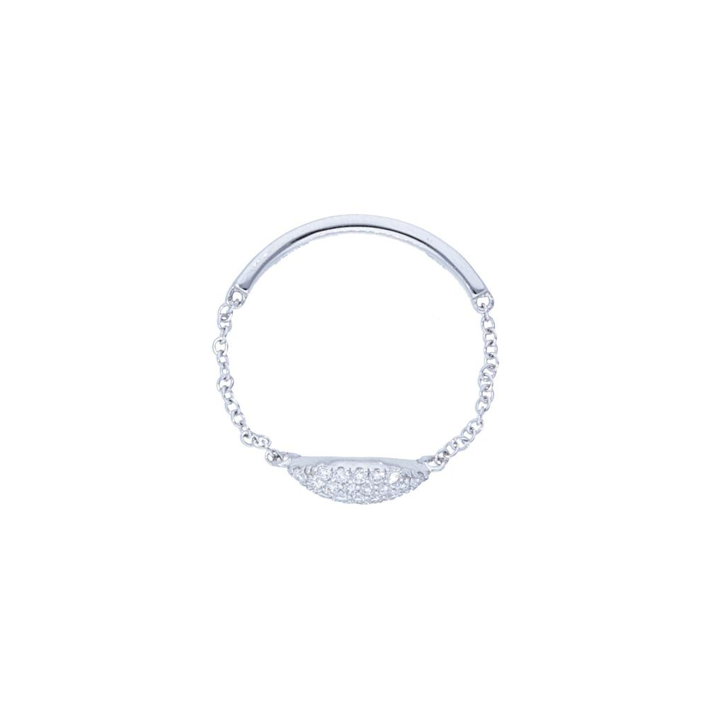 Pave Diamond Marqusie Shape Chain Ring