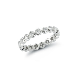 Diamond Eternity Polished Bezel Ring