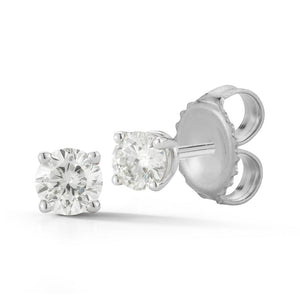 4 Prong Round Diamond Stud Earrings