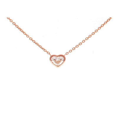Heart Diamond Bezel Necklace