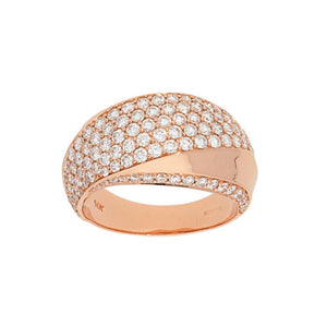Twist Dome Pave Diamond Ring