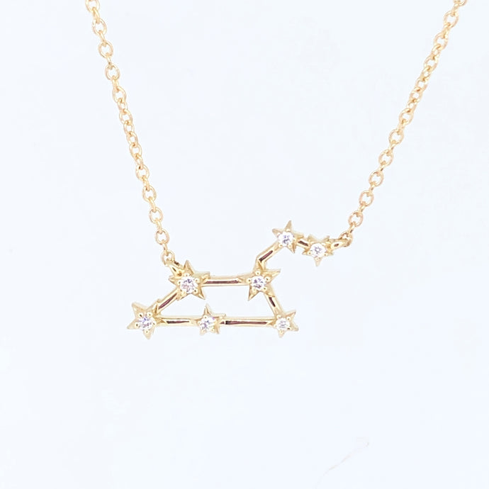 Zodiac and Diamond Necklace