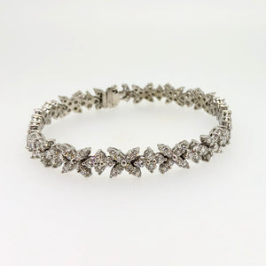 Diamond X & O Tennis Bracelet
