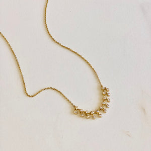 Diamond with Briolette Drops Necklace
