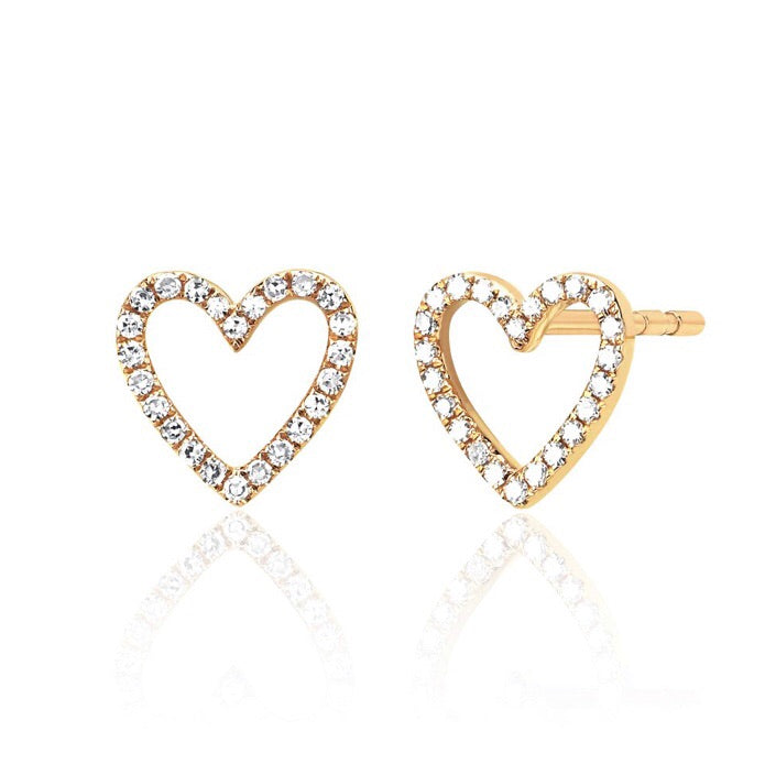 Diamond Open Heat Stud Earrings