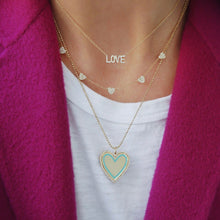 Load image into Gallery viewer, Gold Heart Enamel Necklace