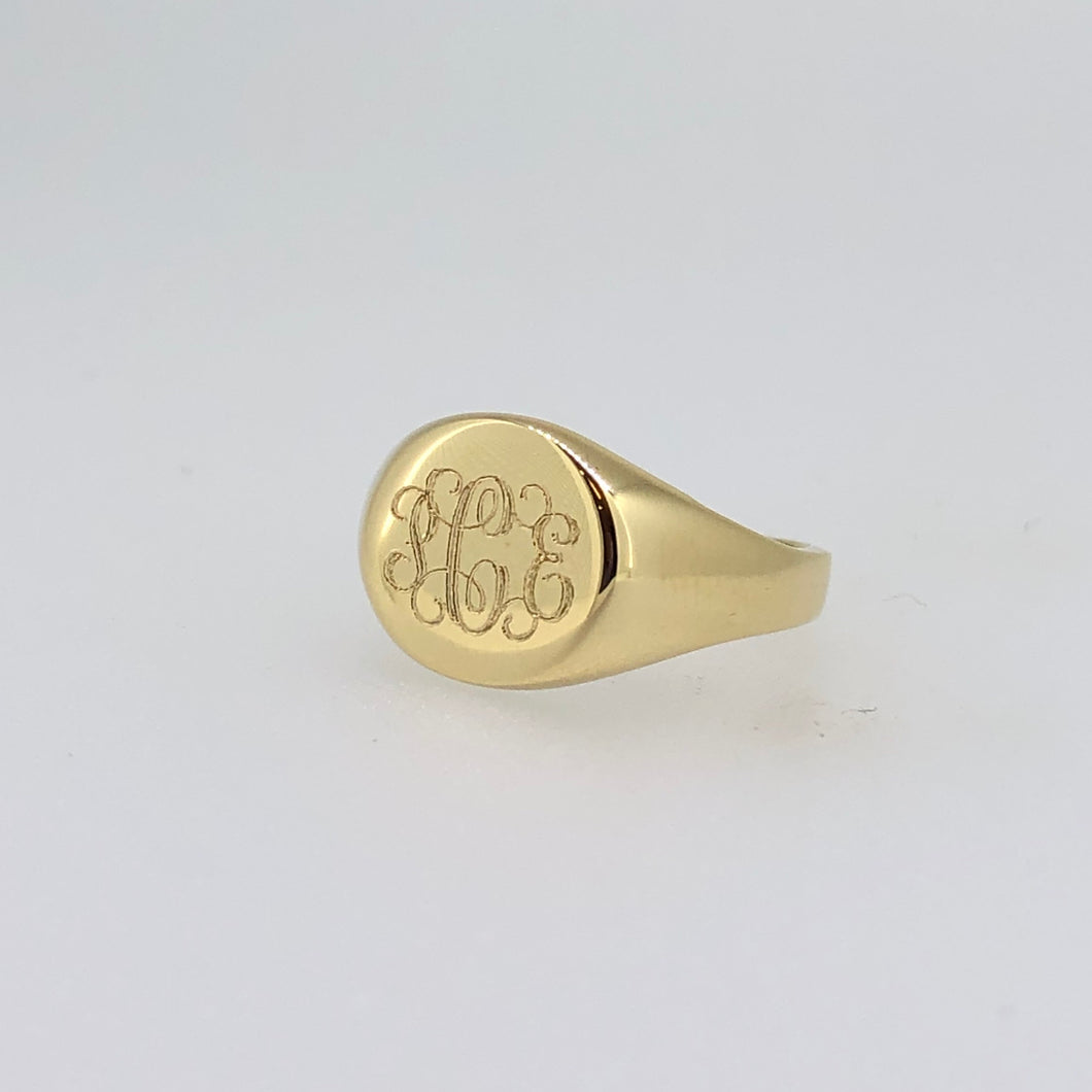 14k Gold Signet Ring