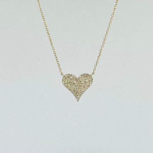 Medium Heart Diamond Necklace