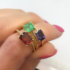 14k yellow gold and lolite ring