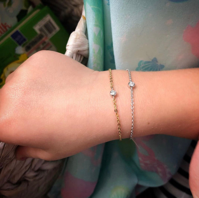 Baby 14k Gold and Diamond Bracelet