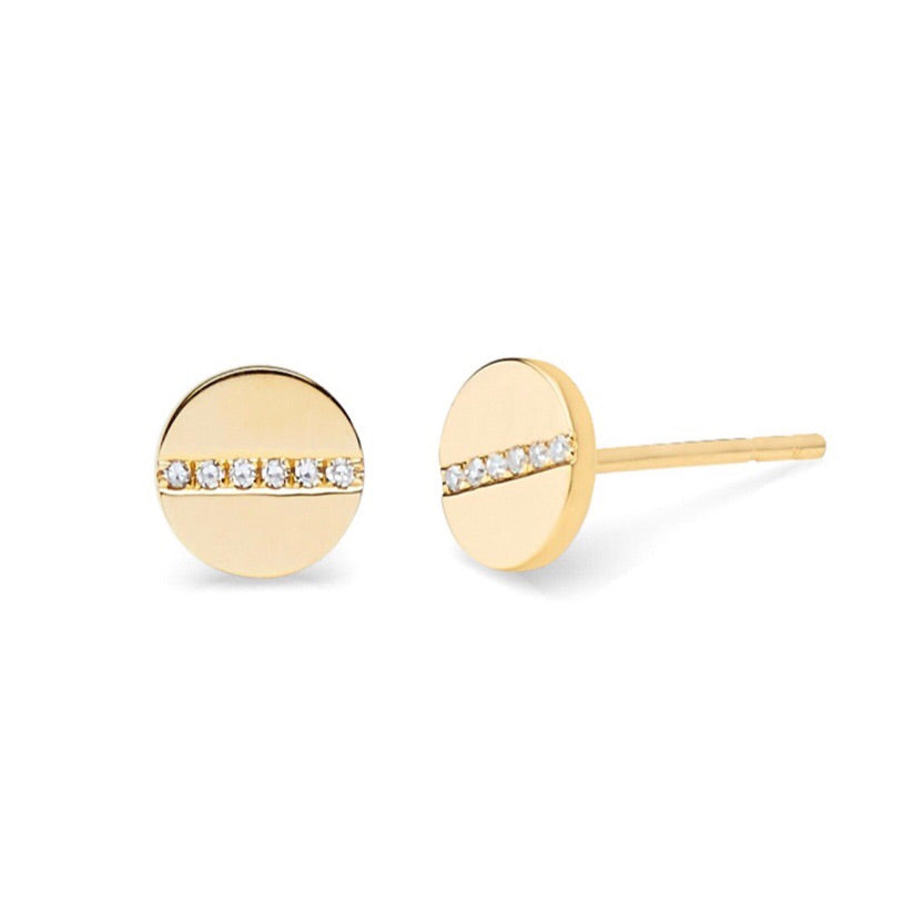 Diamond Screw Stud Earrings