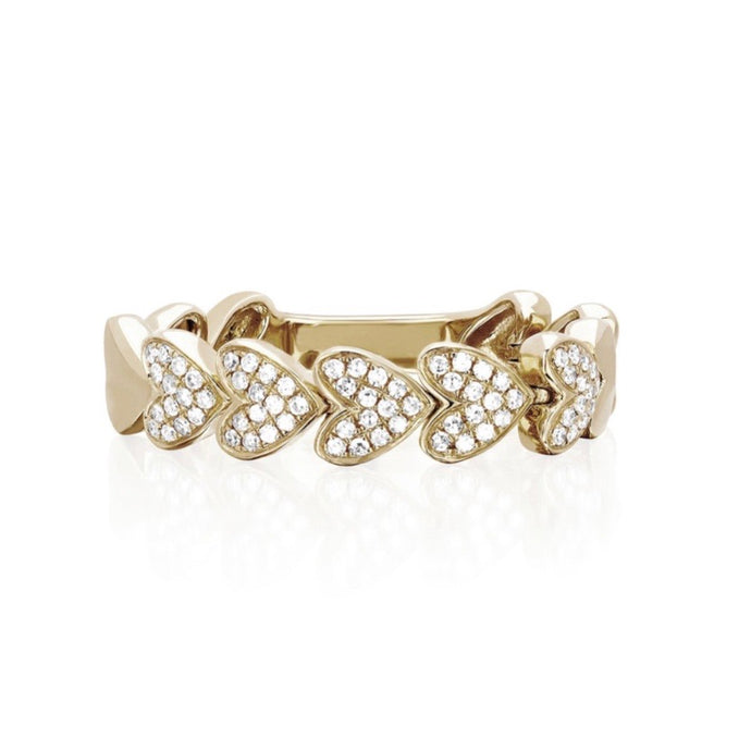 diamond love link ring
